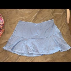 Baby blue tennis skirt